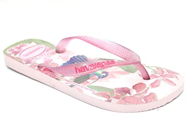 e0e55228d56374 Image Unavailable. Image not available for. Colour  Womens HAVAIANAS IPE  Light Pink Bird Print Summer Sandals Flip Flops Size UK 3-8