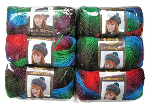 Apple Yarn (Lion Brand Yarn Landscapes Yarn (6-Pack) (Apple Orchard 545-205))