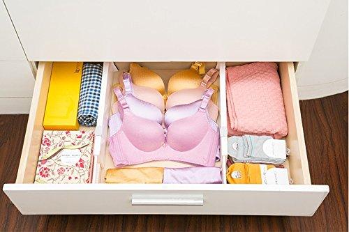 IU Drawer Organizers Adjustable & Expendable Drawer Dividers, Best for Kitchen, Dresser, Bedroom, Baby Drawer, Bathroom, Desk.