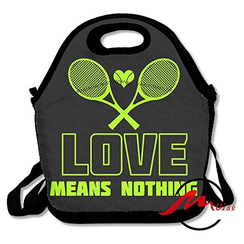 - ZMvise I Love Tennis Ball Lunch Tote Insulated Reusable Picnic Bags Boxes Men Women Youth Teens Nurses Travel Bag