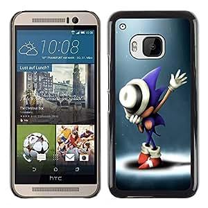EJOY---Cubierta de la caja de protección la piel dura para el / HTC One M9 / --S0nic Hedgehog