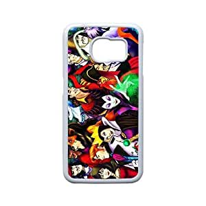 Custom for Samsung Galaxy S6 Edge Cell Phone Case White Disney Villains ThemeLA9250