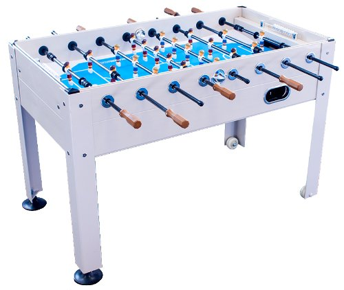 Foosball Action Soccer Table (Park & Sun Sports Blue Sky Beachwood Indoor/Outdoor Weatherproof Foosball/Soccer Game Table)