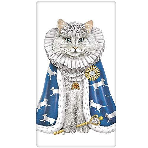 Mary Lake-Thompson Halloween Cat Queen Cotton Flour Sack Dish Towel -