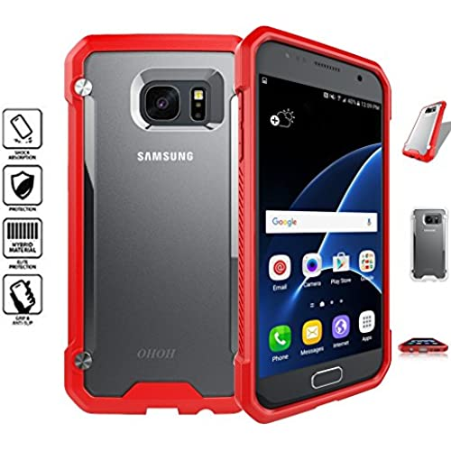 OHOH Hero Series Galaxy S7 Case Shockproof Ultimate Protection for Galaxy S7 Retail Packaging(Red) Sales