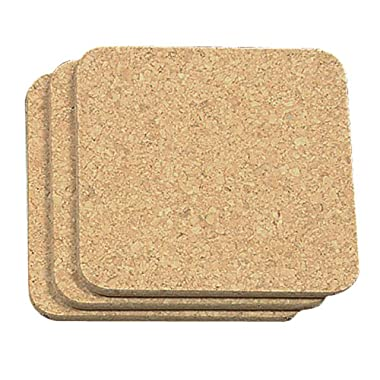 Fox Run Fox Run 4441 Square Cork Trivets (Set of 3), Brown