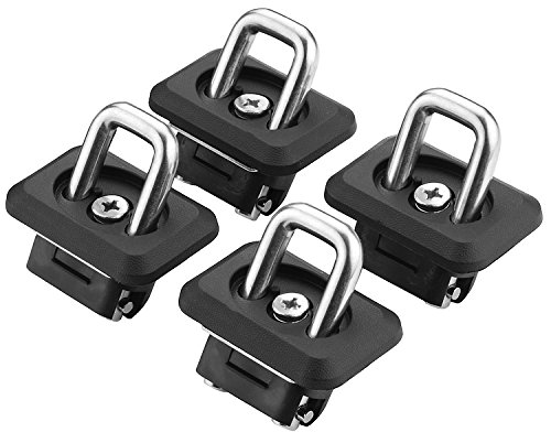 Bull Ring 1001 1-Pair Fits 2007-2019 Chevy GMC Silverado Sierra and 2015-19 Colorado and Canyon Bullet Retractable Truck Bed Side Wall Anchors