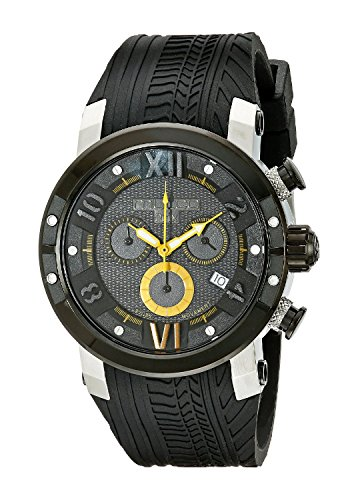 MULCO Men's MW5-3219-029 Prix Tire Analog Display Swiss Quartz Black Watch