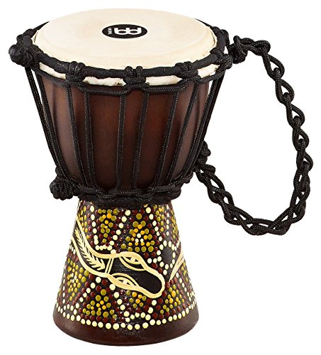 Meinl Percussion HDJ6-XXS Dark Serpents Design Rope Tuned Mahogany Wood 4 1/2-Inch Mini Djembe with Goat Skin Head by Meinl Percussion