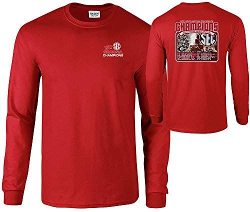 Georgia Bulldogs SEC Champs Long Sleeve Tshirt 2017 Red - L
