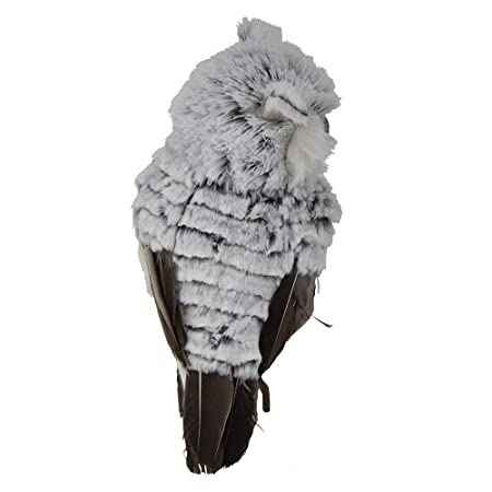 Kurt Adler Owl, 10-Inch, Gray White