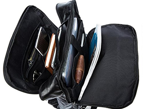 scuola viaggio da Zaino 1 computer borsa tracolla 1 viaggio a da in doppia borsa pelle da Zaino borsa uomo SHOUTIBAO da uomo UqHTT