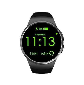 STEAM PANDA Reloj Inteligente con Monitor de Ritmo cardíaco Dial Redondo Conector de Tarjeta SIM enchufable Relojes Inteligentes para Mujeres Oro Bluetooth ...