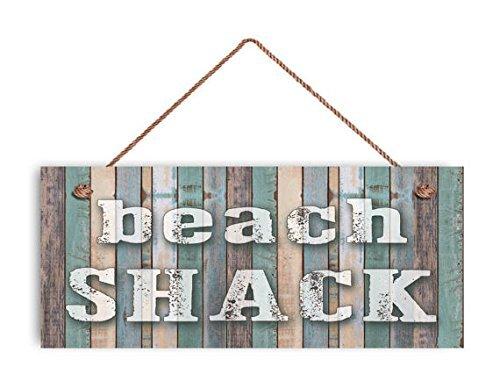 Playa choza Sign, playa erosionado madera, 6 & quotx14 ...
