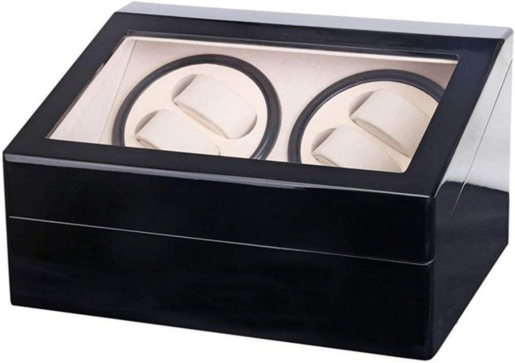 ギフトウォッチワインダーウォッチワインダーボックス4 + 6ピアノペイントダブルヘッドシェーカー自動ウォッチボックスエレクトリックウォッチボックスウォッチワインダー