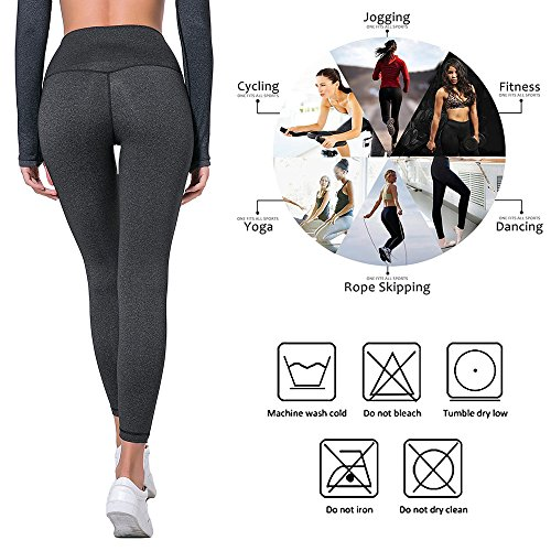 9f5ac39d29c LETHMIK Womens Yoga Pants Leggings,High Waist Workout Sports Running ...