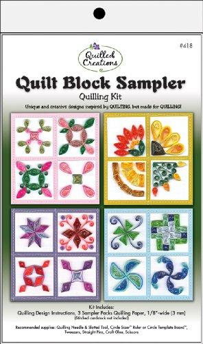 Brand New Quilling Kit-Quilt Block Sampler Brand New - Sampler Quilling Kit