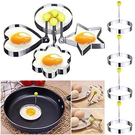 Janolia - Anillos para Huevos (1 Pieza, moldes para Huevos fritos, Acero Inoxidable