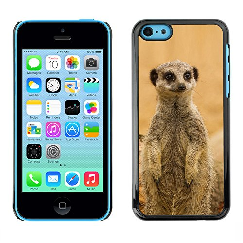 Omega Case PC Polycarbonate Cas Coque Drapeau - Apple iPhone 5C ( Cute Meercat )