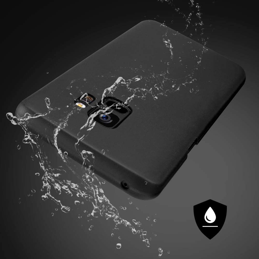 Case Compatible with Samsung Galaxy S9 Black Matte Ultra Slim Lightweight Protective Case Cover JJPRIME