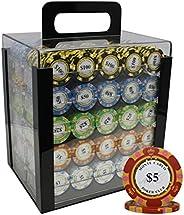 MRC 1000 Ct Monte Carlo Poker Club 14 gram Poker Chip Set Acrylic Case- Choose Denomination