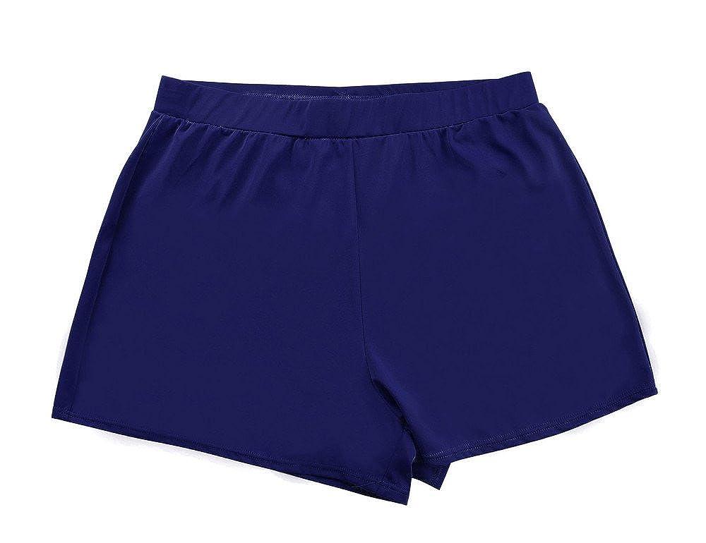 5e03e65a1b87b ... Rocorose Damen Einfarbig A-linien Bikini Hose Große Größen mit Slip ...