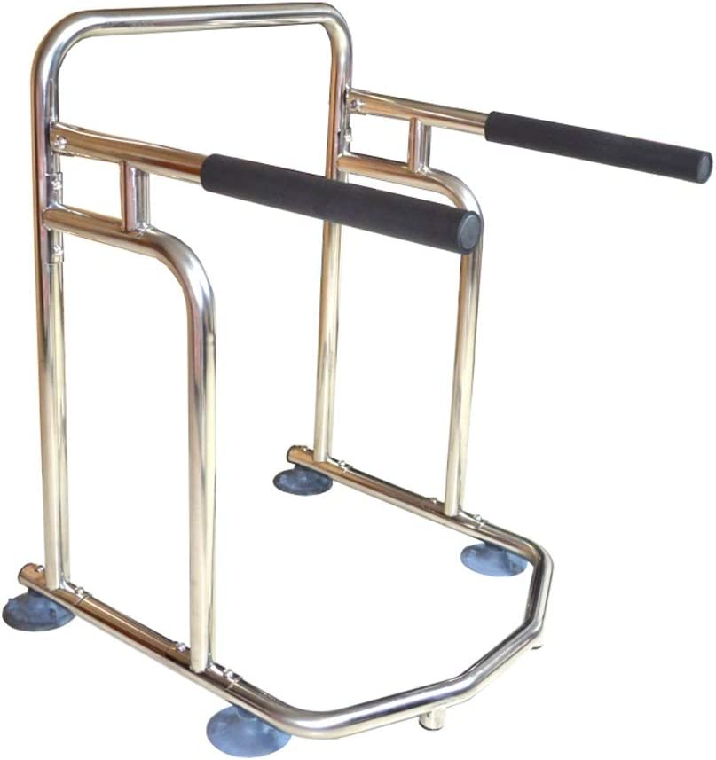 AXD Elderly Toilet Safety Rails Upturning Safety Frame Toilet with Easy Installation for Limited Mobility Disabled Injured Surgery Recovery