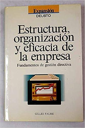 Estructura Organización Y Eficacia De La Empresa