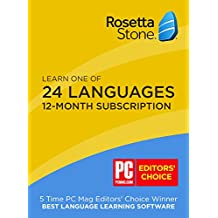 Rosetta Stone 12 Month Online Subscription: Learn Spanish, French, and More
