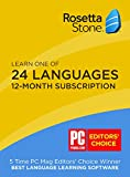 Software : Rosetta Stone: Learn a language for 12 months on iOS, Android, PC, and Mac - mobile & online access