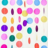 Toys : Bobee Rainbow Paper Garland Party Decorations, Girl's Birthday, Fiesta Streamers