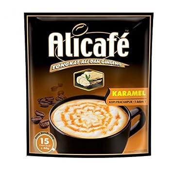 Alicafe Power Root 5 in 1 KARAMEL (Caramel) Instant Premix Coffee Drink With Tongkat