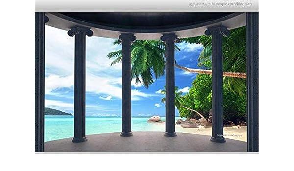 Papel tapiz fotográfico 3D personalizado mural columna romana ...