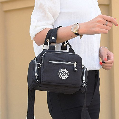 W. Air, borsa messenger, classico impermeabile in nylon borsa a tracolla diagonale borsa messenger borsa a tracolla