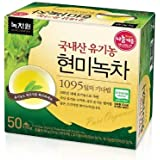 [Nokchawon] NEW USDA Certified Organic Brown Rice Green Tea 50 Tea Bags.