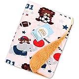 Baby Grow Carter Baby Fleece Double Layer Blanket (76 X 100 Cm) (Sporty Bear)
