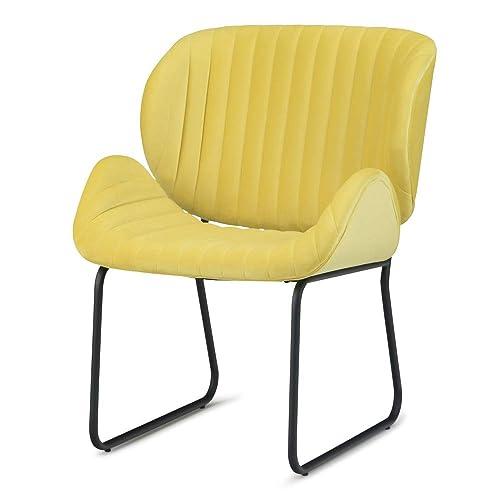 Simpli Home AXCCHR-25-Y Rivley 24 inch Wide Mid Century Modern Accent Chair
