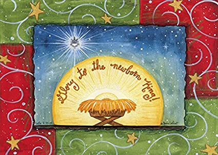 Religious Christmas Card Designs.Amazon Com Glory To The Newborn King Box Of 12 Religious