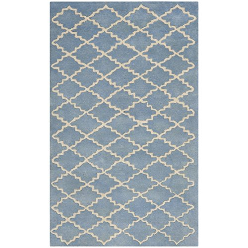 Safavieh Chatham Collection CHT930A Handmade Blue Grey Premium Wool Area Rug (3' x 5')