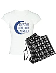 CafePress - I Love You To The Moon And Back Pajamas - Women's Light Pajamas