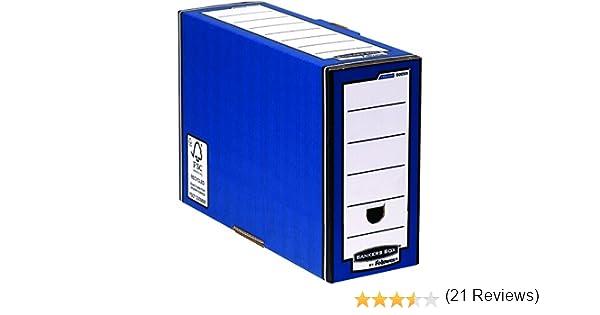 Bankers Box 00059 - Caja de archivo automático, lomo 127 mm, azul: Amazon.es: Oficina y papelería