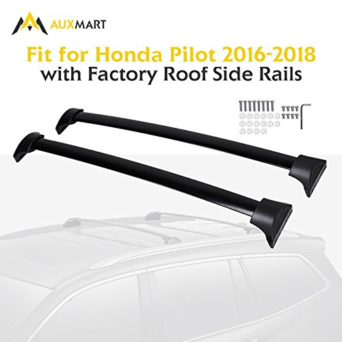AUXMART Roof Rack Cross Bars for 2016–2018 Honda Pilot (Black)