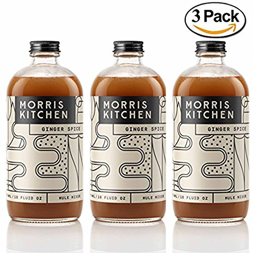 (Morris Kitchen Ginger Spice Mule Mixer - 16floz (3 Pack): Vegan Gluten-Free & Non-GMO Cocktail mix w/ Cold Pressed Ginger Juice & Spices (GINGER SPICE, 3)