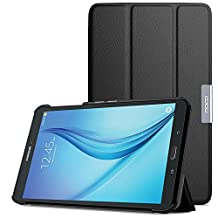 MoKo Samsung Galaxy Tab E 8.0 Case - Ultra Lightweight Slim-shell Stand Cover Case for Samsung Galaxy Tab E 8.0 Inch SM-T377 4G LTE Verizon / Sprint Tablet, BLACK