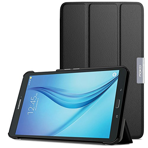 (MoKo Samsung Galaxy Tab E 8.0 Case - Ultra Lightweight Slim-Shell Stand Cover Case for Samsung Galaxy Tab E (Sprint/US Cellular/Verizon/AT&T) SM-T377 4G LTE 8.0 Inch Tablet, Black)