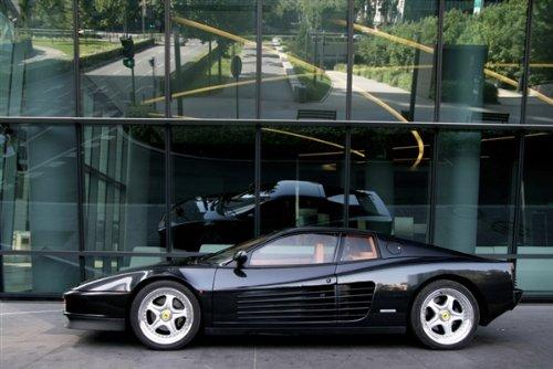 Ferrari Testarossa Black Left Side Hd Poster Super Car Print