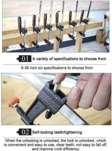 LIJIAN 12インチ多機能二部Fクリップ木工ファストセットクランプ&スプライスツール