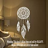 Dream Catcher Decal Feather Sticker Boho Dreamcatcher Wall Decals for Bedroom Nursery Bohemian Bedding MN923
