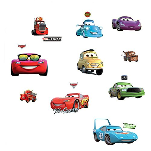 Fangeplus(TM) DIY Removable Cartoon Disney Pixar Cars Art Mural Vinyl Waterproof Wall Stickers Kids Room Decor Nursery Decal Sticker Wallpaper 27.5''x19.6''