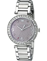Juicy Couture Womens 1901327 Analog Display Quartz Silver-Tone Stainless Steel Watch